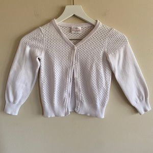 HANNA ANDERSSON White Cardigan Sweater Size 5